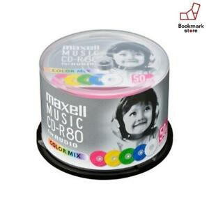 New-Maxell-Japan-Blank-CD-R-Audio-Music-80min-50P-color-mix-F-S-from-Japan