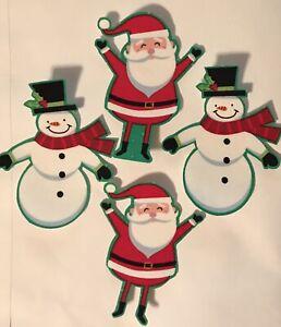 Christmas-Snowmen-and-Santas-Iron-On-Fabric-Appliques