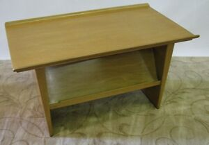 Rare-Ed-Wormley-for-Dunbar-Side-Table-amp-Magazine-Rack-With-Rolled-Edge-Top