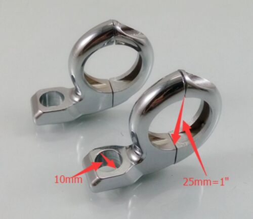 """1/"""" Motorcycle Handlebar Clamps Mount Turn Signal For Harley Touring Cafe Racer"""