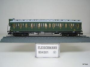 Fleischmann-N-804301-K-Carrozza-passeggeri-FS-a-carrelli-3-classe-con-garitta