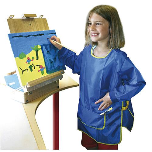 Malkittel blau Bastelkittel Werkschürze Kinder Einheitsgröße 3-9 Jahre NEU OVP