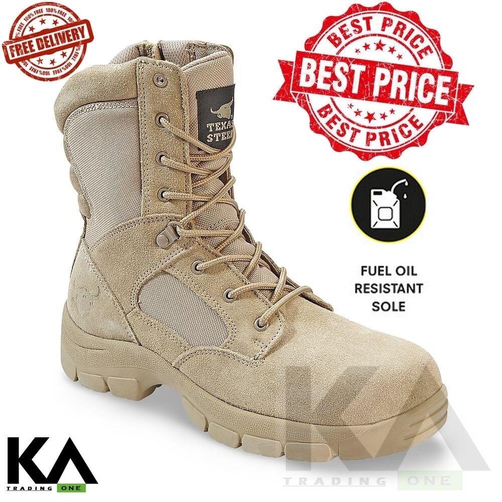Texas Steer Men's Kamaal 2 Tan Work Boot sand Combat Tactical Military Army NEW