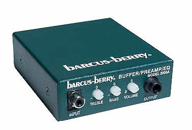 Barcus-Berry 3110 Clamp-on Violin Piezo Bridge Pickup with 3000A Preamp//EQ NEW!