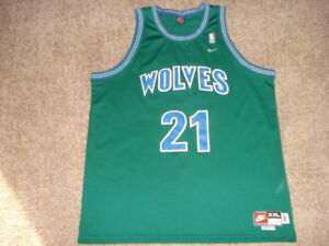 sports shoes 68964 d992f Details about Vtg Nike Alternate GreEn Kevin Garnett Minnesota Timberwolves  T-wolves Jersey
