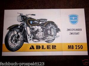 ADLER-MB-250-PROSPEKT-KLEYER-ZWEIZYLINDER-MOTORRAD-OLDTIMER
