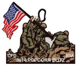 2014-Central-Florida-Council-Popcorn-Blitz-Military-Scout-Patch-Badge-Set-BSA