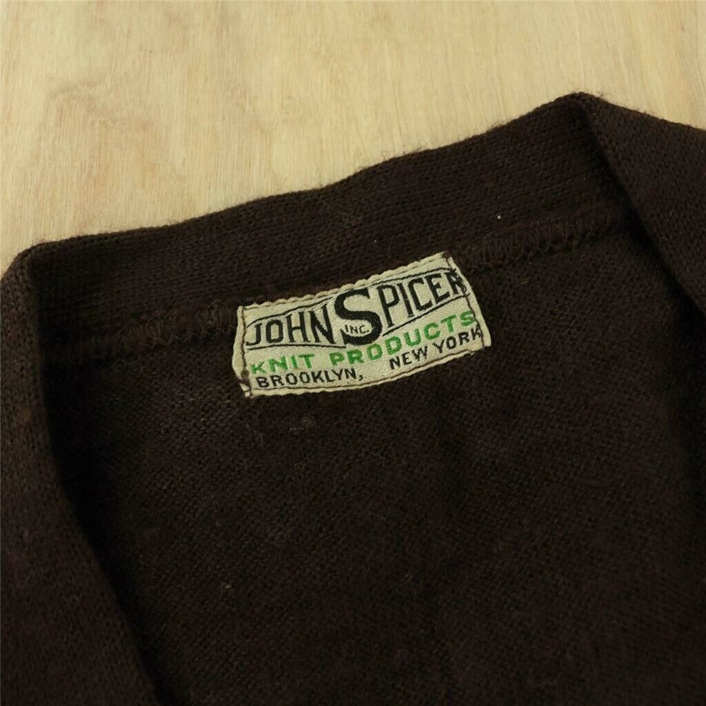 1920's 1930's NWT nos deadstock JOHN SPICER knit goods sweater vest 36 tag