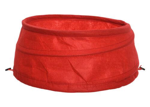 Abdeckung für Christbaumständer Verkleidung Hülle Faltbar Pop-Up Stoff Rot