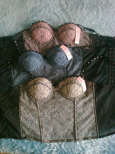 LOT-DE-2-BUSTIERS-guepiere-corset-sexy-neuf-36-80-B