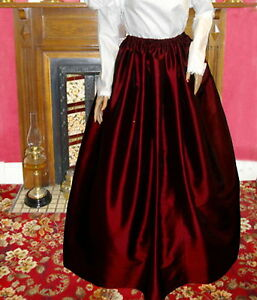 Ladies-Victorian-Edwardian-costume-SKIRT-gentry-ball-gown-fancy-dress-burg