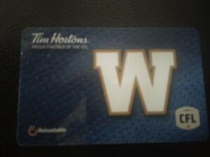 Tim Horton/'s 2018 Winnipeg Jets Collectible Gift Card