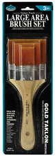 Conjunto de 3 Cepillos De Oro Taklon artistas Royal Grande acrílico, aceite, & Barniz trevlig 140