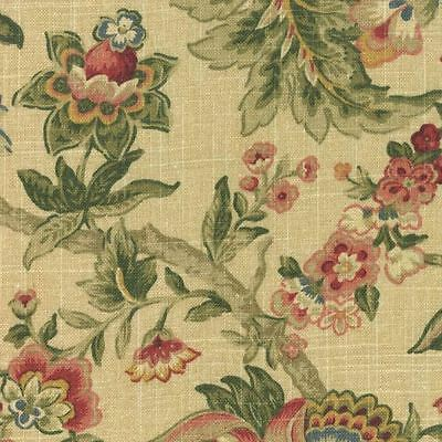 1.625 YDS Mill Creek Raymond Waites MANDARA ROSE Jacobean Floral Drapery Fabric