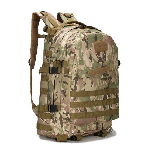 40L Molle Military Trekking Backpack Outdoor Hiking Nylon Waterproof Heavy Bag