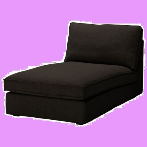 IKEA Kivik Chaise Lounge Sofa Chair NEW Cover Teno Black(Mates Avail  w/Disc)Wool