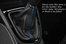 BLUE STITCH FITS RENAULT CLIO 2013+ LEATHER GEAR GAITER ONLY