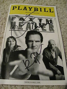 RALPH-FIENNES-SIGNED-AUTOGRAPH-PLAYBILL-FAITH-HEALER-HARRY-POTTER-IN-PERSON-COA