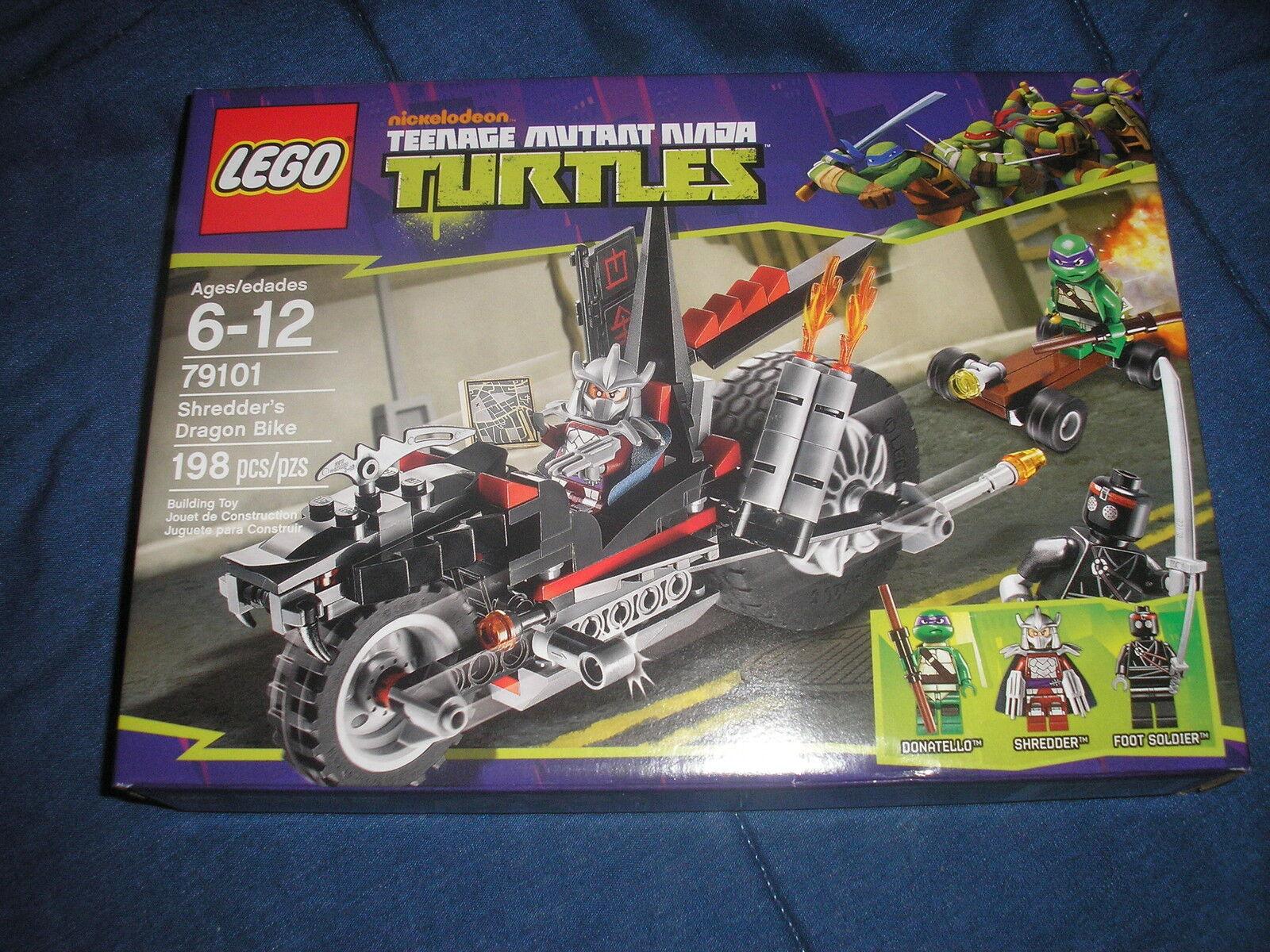 Nuevo Teenage Mutant Tortugas Ninja Lego Shrojoder's Dragon Bike 79101