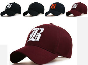 BASEBALL Letter B SNAPBACK Adjustable Strap Unisex Personalised CAP HAT Red Navy