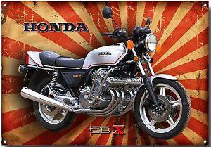 Das Bild Wird Geladen Honda CBX 1000 Motorrad Metall Schild Klassisch Japanische