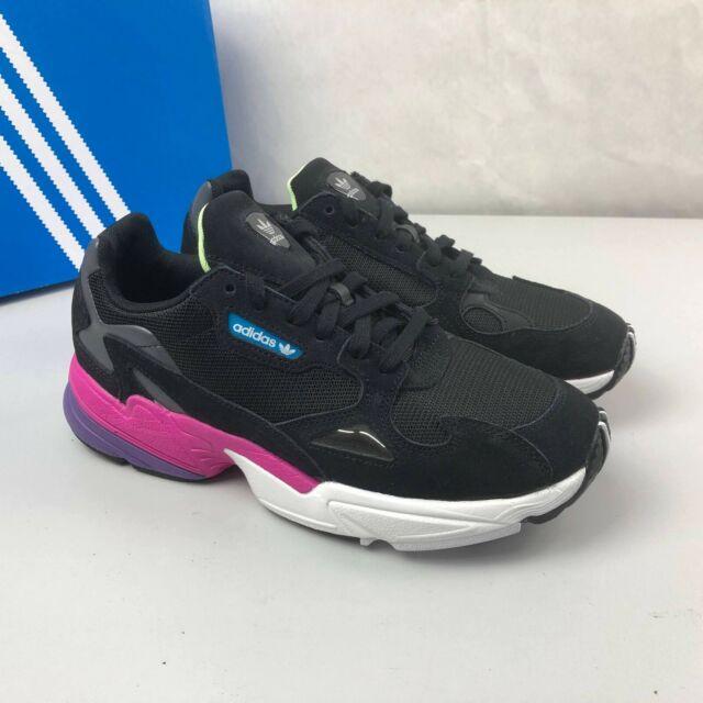 Size 9 - adidas Falcon Black Shock Pink