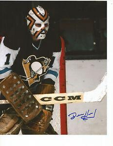 DENIS-HERRON-Autographed-Signed-8-x-10-Photo-Pittsburgh-Penguins-COA