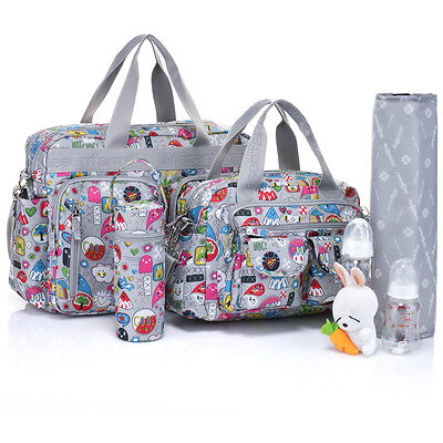 New 4pcs Baby Diaper Nappy Bag Cute Cartoons Free Shipping msf001