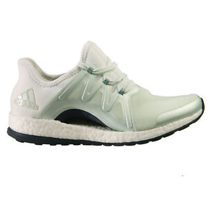 47e803b953b52 Adidas Pure Boost Xpose Womens BB1732 Linen Green Steel Running ...