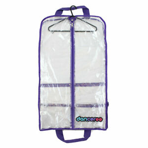 Standard Clear Costume Bag -Purple Trim -Pack And Protect Your Costumes