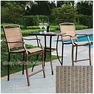 Image Is Loading Bistro Table Bar High Chair Set 3