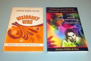 2-Books-VISIONARY-VINE-AYAHUASCA-PSYCHEDELIC-HEALING-PERUVIAN-AMAZON-SHAMAN-PERU