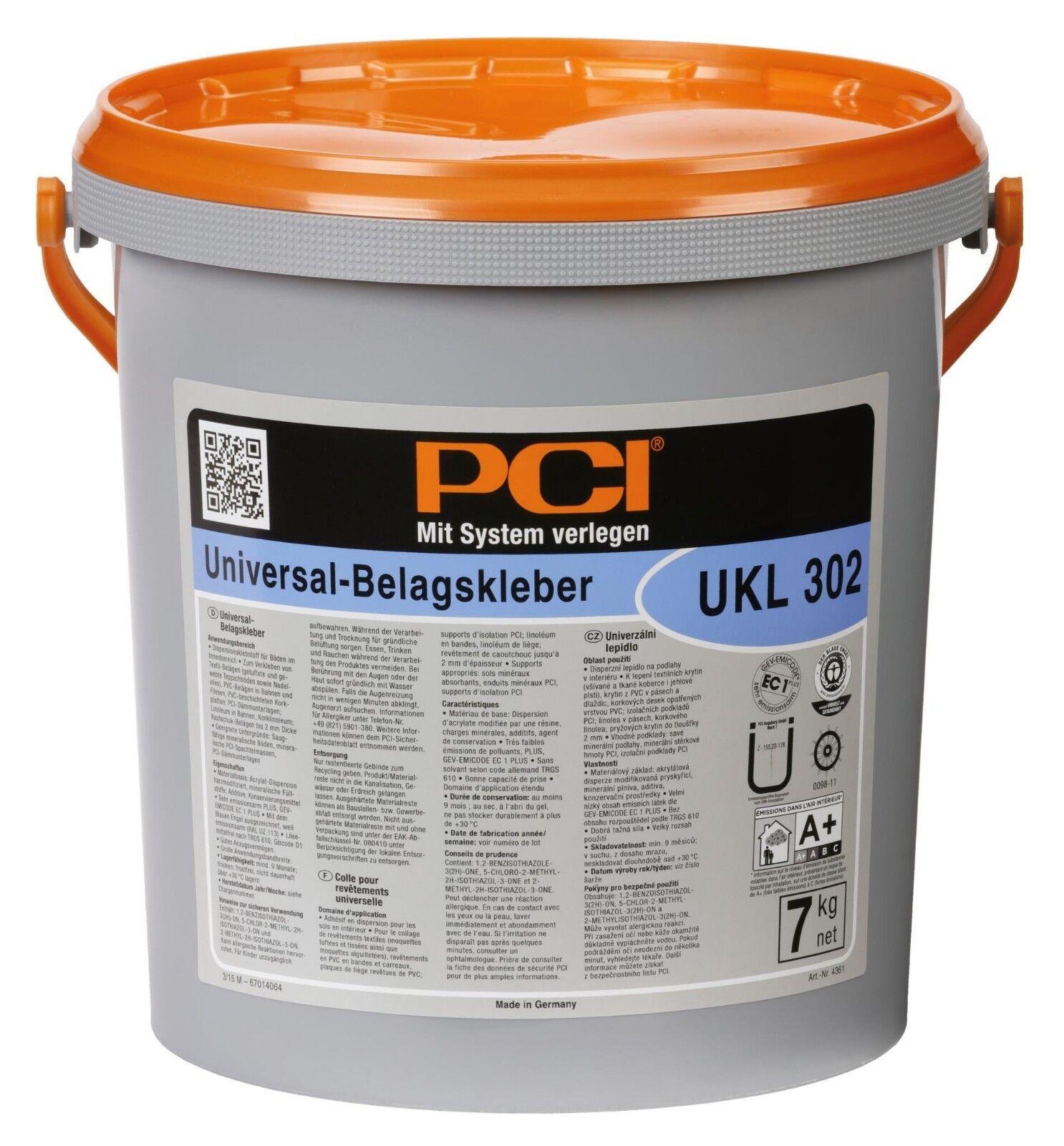 PCI Ukl 302 Universal-Belagskleber Dispersions-Klebstoff für Innen-Flächen 7 kg