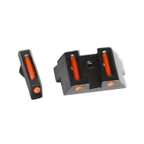 Green Fiber Optic Front Rear Sights Fit Glock Standard Models 17L 23 33 Red