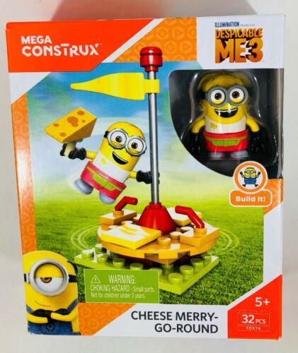 Mega Construx Despicable Me 3 Cheese Merry-Go-Round 32 PCS FDX74 Minions Ages 5+