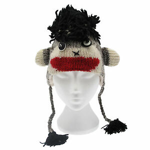 5555991e7a1 Image is loading Fun-Crazy-Monkey-Handmade-Winter-Woollen-Animal-Hat-