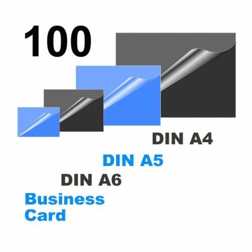 mit DIN A5-Schneidelin OLYMPIA Laminierfolien sortiert 80 micron 4 Größen