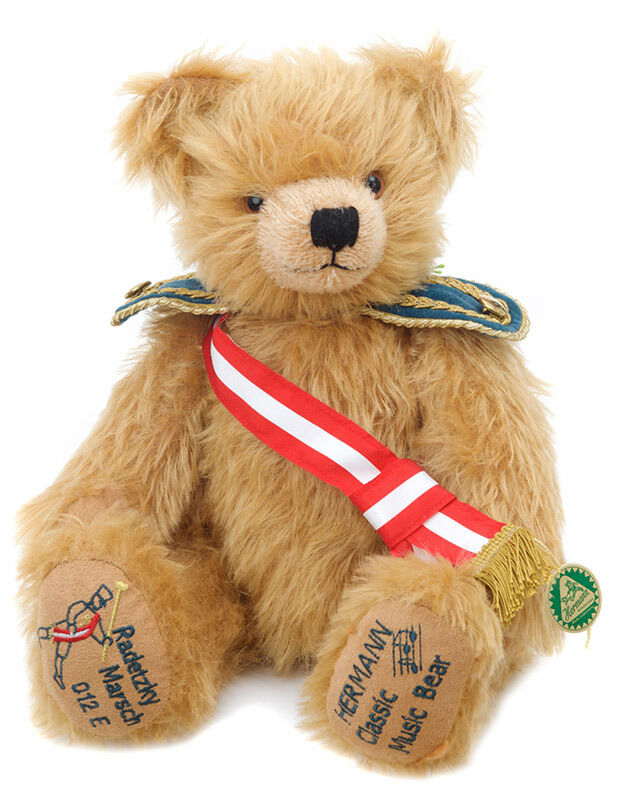 Radetzky March limited edition Teddy Bear by Hermann Spielwaren - 14304-6