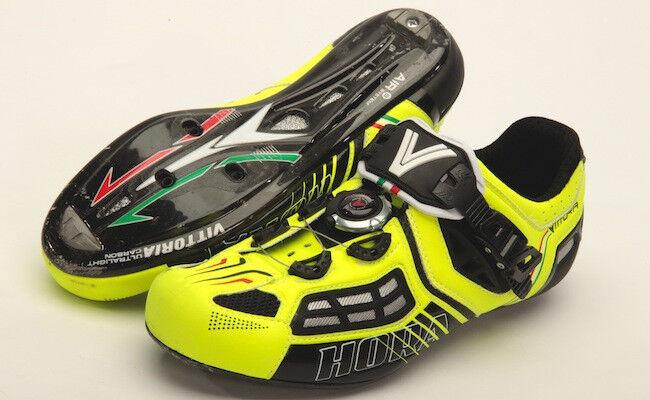 Schuhe bici corsa Vittoria Hora Evo road bike schuhe 42,43,44 giallo/Gelb fluo