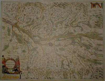 Historische Landkarte Bistum Straßburg 1658