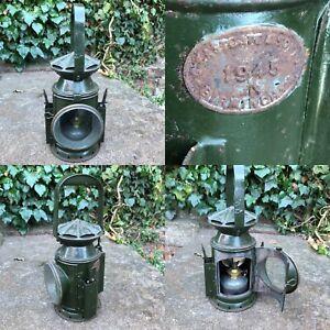 WW2 1945 Eastgate Railway Lamp Light Army War Department Pie Crust Top Trains