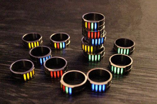 Outdoor TC4 Titanium Tactical Ring Tritium Tube Night Light Luminous EDC Pendant