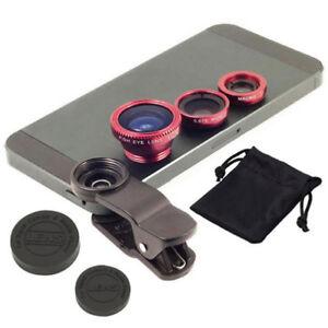 Clip Angle Fisheye Lens Wide Macro 3 in 1 Lens Lente Per Cellulare Smartphone ir