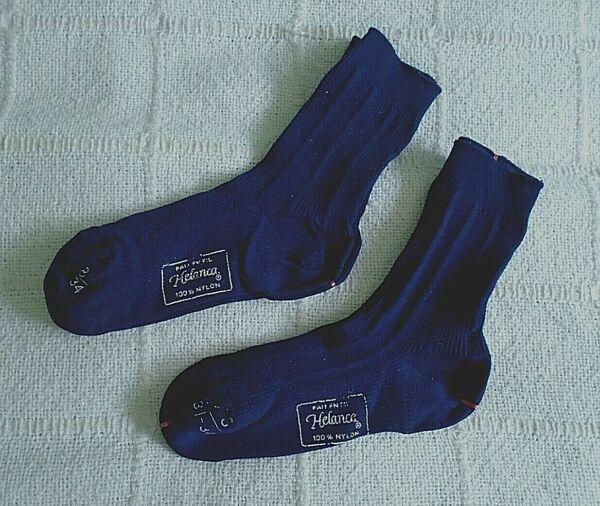 2 Pares Vintage Sox-edad 4-6 Años Aprox-azul Marino Oscuro Nylon Elástico-nuevo-ver Ventas De Aseguramiento De La Calidad