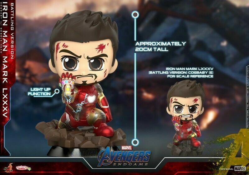 Los Vengadores Tacho Cosbaby Artesanía 679 Hot Juguetes Iron Man MK85 Muñeco de Batalla versión.