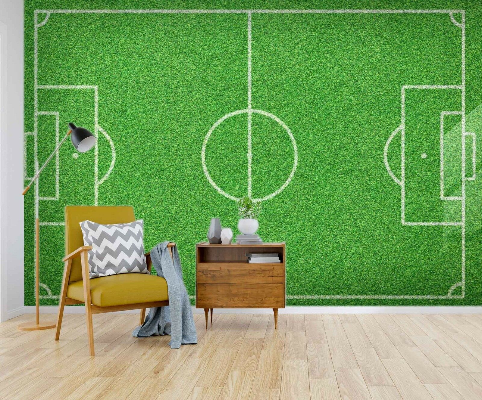 3D Football Field  910 Wallpaper Mural Paper Wall Print Indoor Murals CA Summer