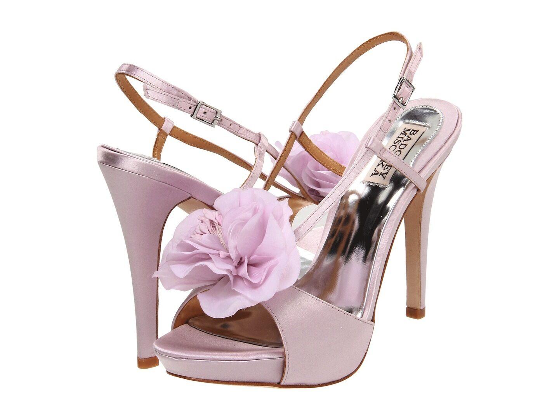 NIB Badgley Mischka Zabrina Wedding Bridal heel sandals open toe shoes purpleC 10