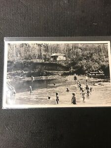 real-photo-Postcard-Riverside-Park-Birtle-Manitoba-Children-s-In-Water-Fun-A1
