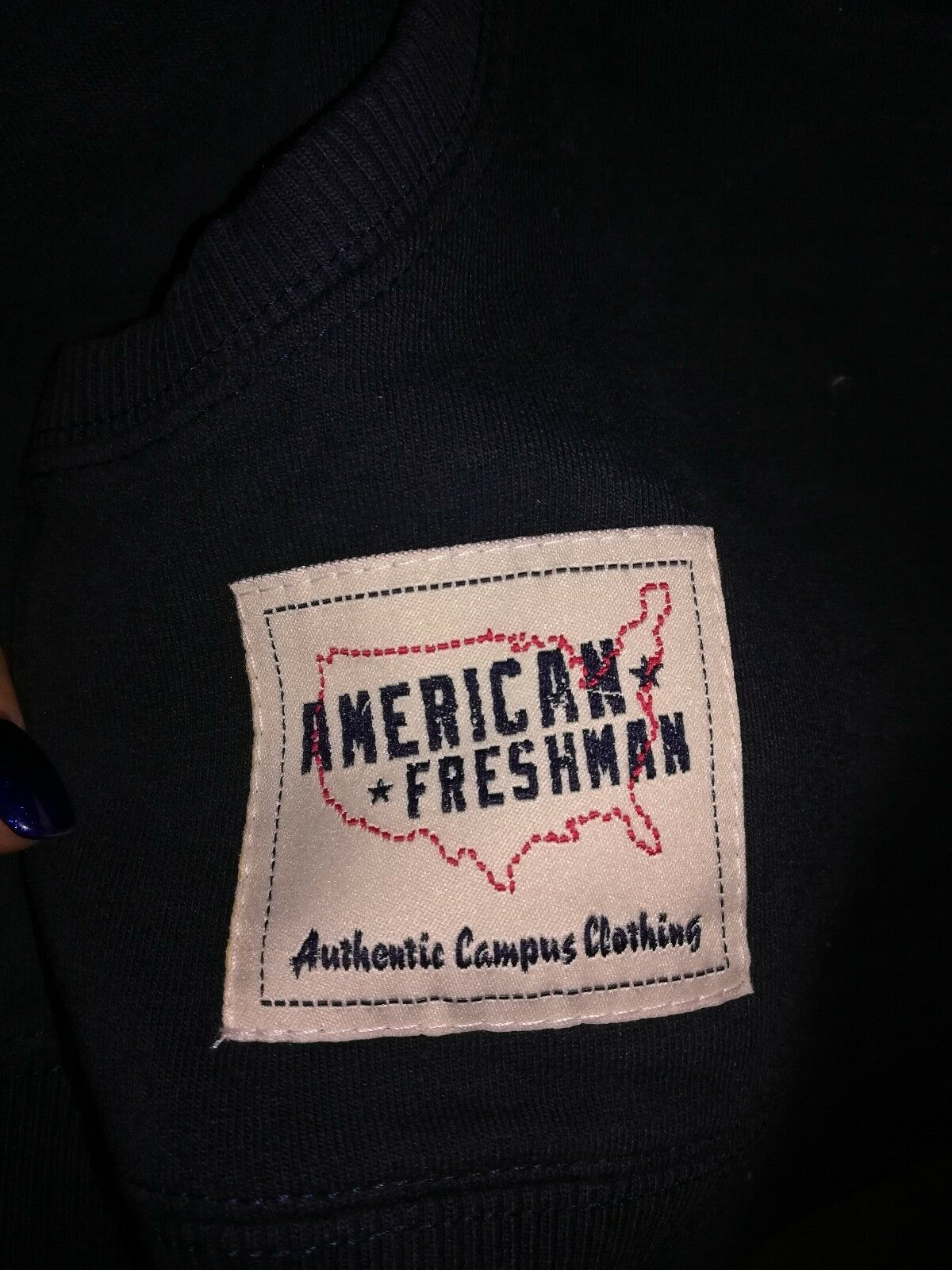 AMERICAN FRESHMAN Felpa mujer mujer mujer Color azul Scuro TG M Authentic Campus Clothing b38a23