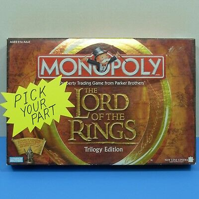 Monopoly Lord of the Rings Trilogy Replacement Parts Pieces Tokens Money M1